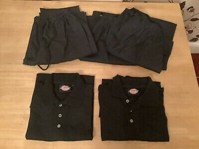 £15 • Buy Chef's Clothes Bundle 3 Pair's Alexandra Chef Trousers & 2 Dickies Polo Shirts
