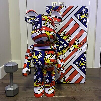 $855 • Buy Medicom Toy: Be@rBrick X Keith Haring American Flag 1000%, Limited
