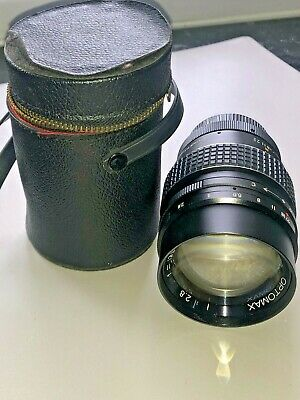 $1.40 • Buy Optomax 135mm F2.8 Telephoto Lens, Preset M42 Screw Fit (T2) With Case, 1960s