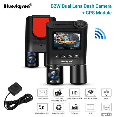 AU187.99 • Buy B2W Car Dash Camera GPS Wi-Fi Front & Rear 1080P Lens Infrared DVR For Taxi Uber
