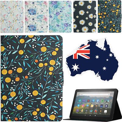 AU14.72 • Buy For Amazon Fire 7 HD 8 10 Paperwhite Case Shockproof Magnetic Flower Cover Shell