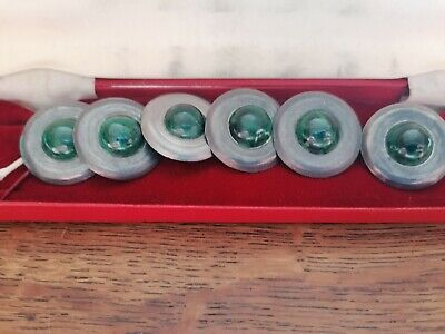 £7.99 • Buy Set Of Of 6 Arts And Crafts, Pewter Buttons Still In Box Never Used