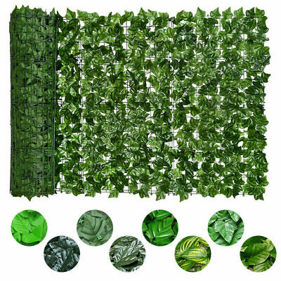 £12.66 • Buy 3M Artificial Faux IvyLeaf Hedge Panels Roll Privacy Screening Garden FenceDecor