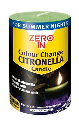 £7.25 • Buy Colour Changing Citronella Outdoor Pillar Candle Summer Nights Repels Insects