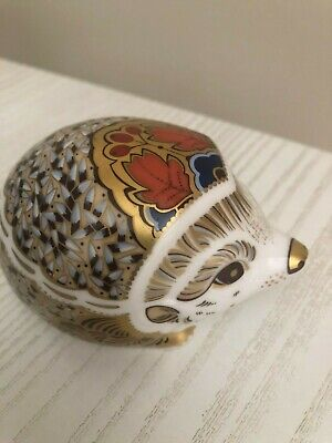 £23.90 • Buy Royal Crown Derby Paperweight Hedgehog With Gold Stopper