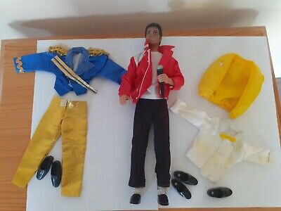£35 • Buy Michael Jackson Action Doll-1984 MJJ Productions With Microphone/Shoes & Outfits