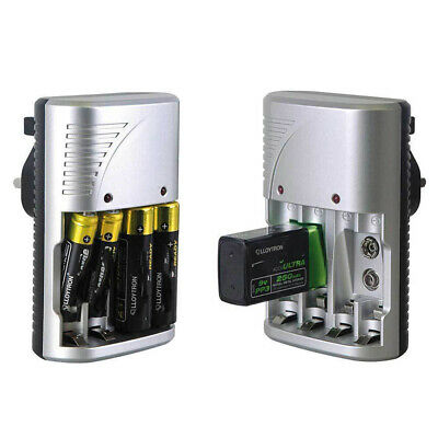 £9.49 • Buy Mains Intelligent Multi Battery Charger For AA AAA & 9V Sizes UK Plug Charger