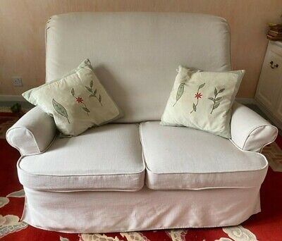 £1 • Buy Parker Knoll - 2 Seater Sofa Or Settee White Covers Includes Cushions