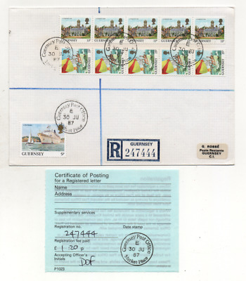 £2.45 • Buy Guernsey Market Place Sub Office Registered Cover + Receipt