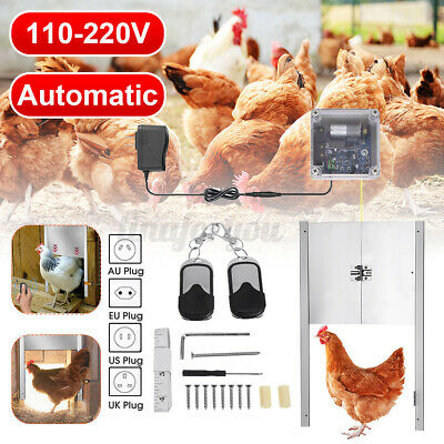 £95.70 • Buy Automatic Chicken Coop Door Opener Remote Controls Cage Opening Safety Timer