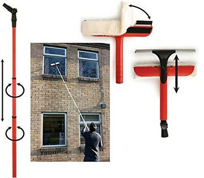 £16.99 • Buy EXTRA LONG Telescopic Window Conservatory Cleaner UPPER Windows Roof 3.5M POLE