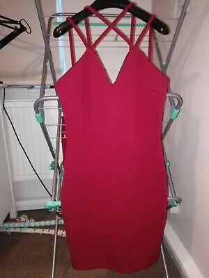 £7 • Buy Topshop Wal G Burgundy Strappy Dress Size 12