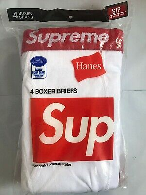 £35.49 • Buy Supreme®Hanes®Boxer Briefs ( 4 Pack) - White/Small 100% Authentic