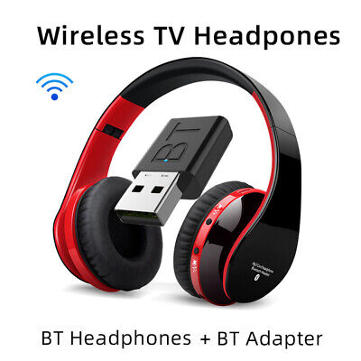 AU31.34 • Buy Wireless Bluetooth 5.0 TV Headset Stereo TV Headphone Transmitter For Computer