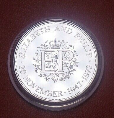 £16 • Buy 1972 Royal Mint Uk Silver Proof Crown Coin Queens Silver Wedding