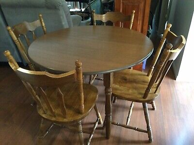 AU63 • Buy Wooden Dining Table (round) And Dining Chairs