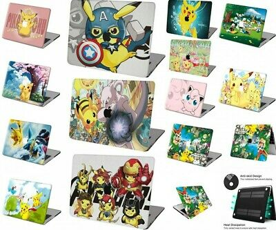 $15.61 • Buy Hot New Pokemon GO Cartoon Rubberized Hard Cut Out  Case +KB Cover For Macbook