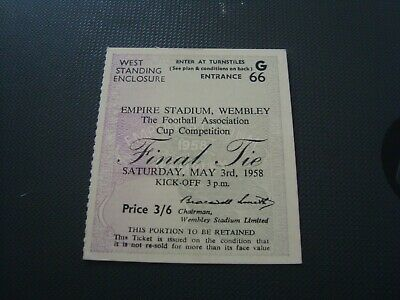£13.50 • Buy 1958 FA Cup Final Ticket Bolton Wanderers V Manchester United