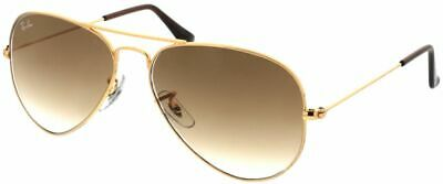 £49.76 • Buy Ray-Ban Aviator RB3025 58-14 Unisex Sunglasses - Gold- Brand New With BOX