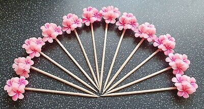 £3.99 • Buy 12 Wooden Cocktail Sticks Party Food Flags Toppers Cake Decorations Cup Cakes