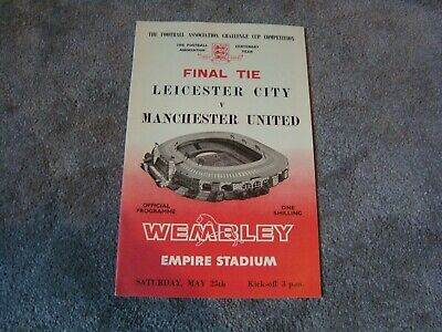 £1.99 • Buy 1963 FA Cup Final Leicester City V Manchester United