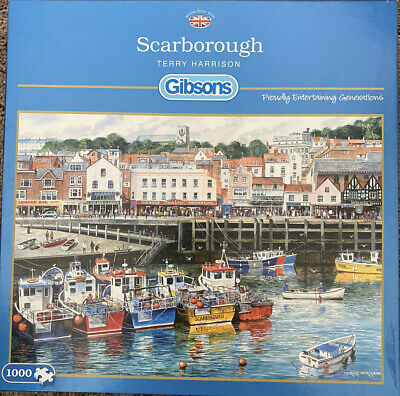 £7.50 • Buy Gibsons 'Scarborough-Terry Harrison' 1000 Piece Jigsaw Puzzle-used