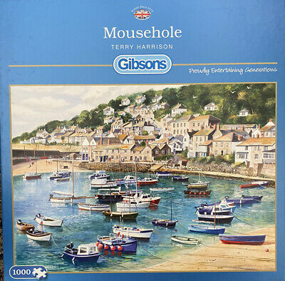 £7.50 • Buy Gibsons 'Mouse Hole-Terry Harrison' 1000 Piece Jigsaw Puzzle-used