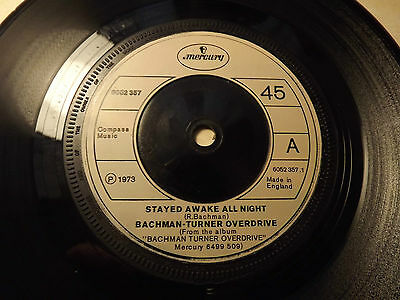 £0.99 • Buy Bachman Turner Overdrive.......Stayed Awake All Night........45rpm