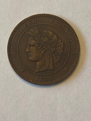 £17.84 • Buy France 1886 A 10 Centimes In Uncirculated Condition. Beautiful Coin!!!!