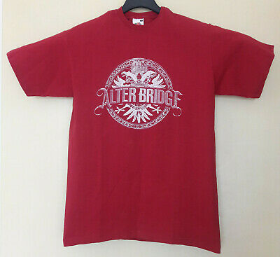£37 • Buy Alter Bridge T Shirt Size S European Tour Red Woman Girls Unisex Preserved Used