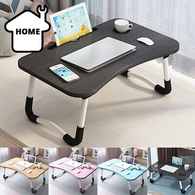 £7.99 • Buy Portable Folding Laptop Stand Holder Study Table Wooden Foldable Computer Desk