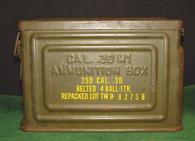 $49.95 • Buy WWII 30 M1 Locking Ammo Can  250 Cal. .30 Belted 4 Ball-1TR  Flaming Bomb CROW