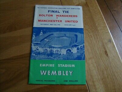 £4.99 • Buy 1958 FA Cup Final Bolton Wanderers V Manchester United