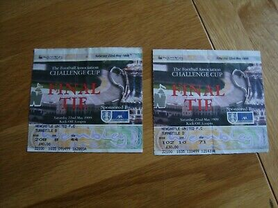 £9.99 • Buy Pair Of 1999 FA Cup Final Tickets Manchester United V Newcastle United