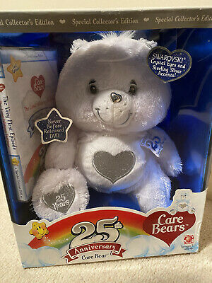 £65 • Buy CARE BEAR 25th ANNIVERSARY WHITE TENDERHEART WITH DVD