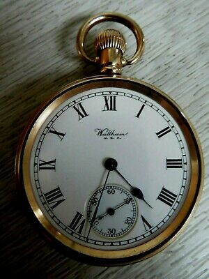 £27 • Buy A Vintage Gold Case Plated Waltham Traveler Pocket Watch Good Condition Working