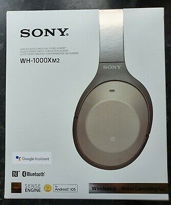 AU341.30 • Buy Sony WH-1000XM2 Headphones, Gold, Noise Cancelling, Bluetooth, Touch Control