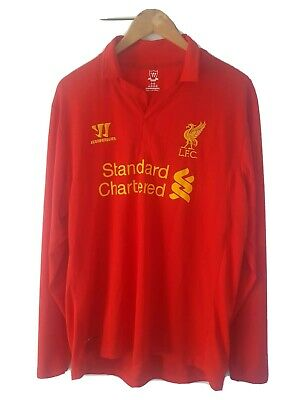 £30 • Buy Liverpool FC 2012-13 WARRIOR Long Sleeve Home Shirt SIZE L (adults)