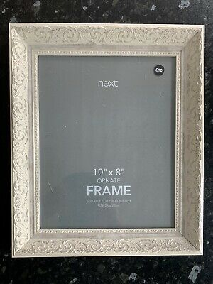 """£7 • Buy BNWB Next White Baroque Scroll Photo Picture Frame 8""""x10"""""""