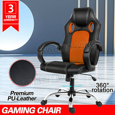 AU88.90 • Buy Gaming Chair Office Executive Computer Chairs Racer Executive Seat Mesh