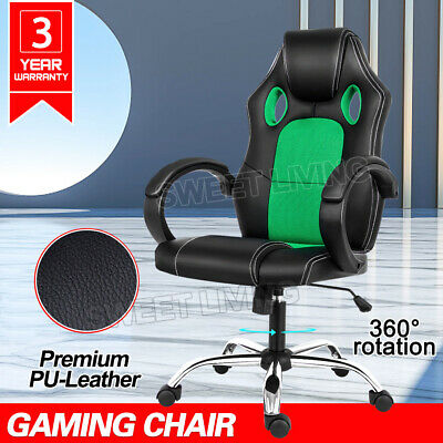 AU88.90 • Buy Gaming Chair Office Executive Computer Chairs Racer Executive Seat Mesh Green