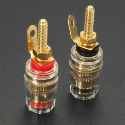 £11.02 • Buy 8Pcs Gold Plated Speaker Terminal Binding Post Connector For Plug Socket