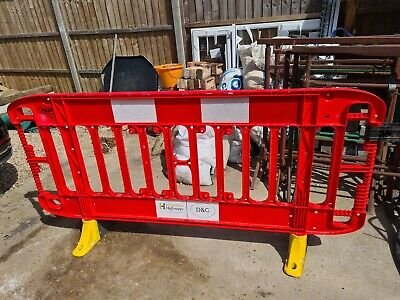 £12 • Buy Road Barrier 1 X Traffic Management Chapter 8 Pedestrian Plastic Safety Barriers