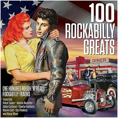 £7.99 • Buy 100 Rockabilly Greats 4-CD NEW SEALED Vince Taylor/Dale Hawkins/Charlie Feathers