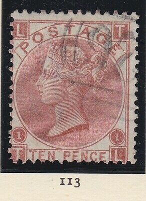 £0.99 • Buy QUEEN VICTORIA SG 113 10d PALE RED BROWN PLATE 1 Lettered TL