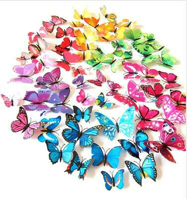 £2.75 • Buy 12 X 3D Butterfly Wall Stickers Home Decor Room Decoration Sticker Bedroom Girls
