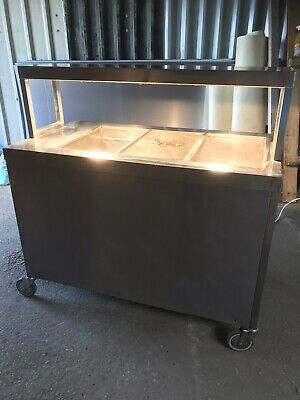 £350 • Buy Stainless Steel Heated Mobile Gantry With Hotcupboard Takes 3 Gastronome Trays