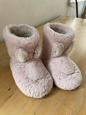 £5 • Buy Girls Pink Fluffy Bunny Slipper Boots Size 10 M&s
