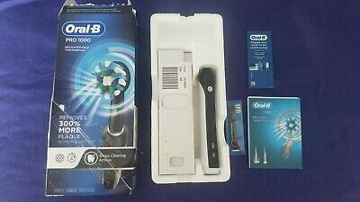 AU37.40 • Buy Open Box New & Complete Oral B Pro 1000 Rechargeable Electric Toothbrush- Black