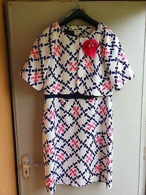 £15 • Buy Daisy May Ladies Two Piece Summer Outfit Dress And Jacket Size 14 Excellent...